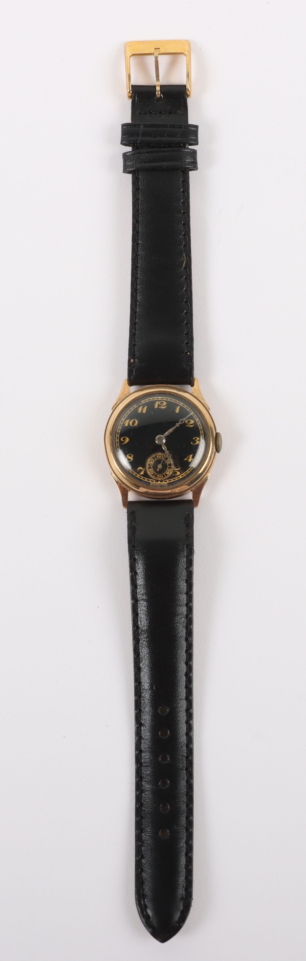 A vintage 9ct gold Swiss made wristwatch, circa 1940 - Image 2 of 7