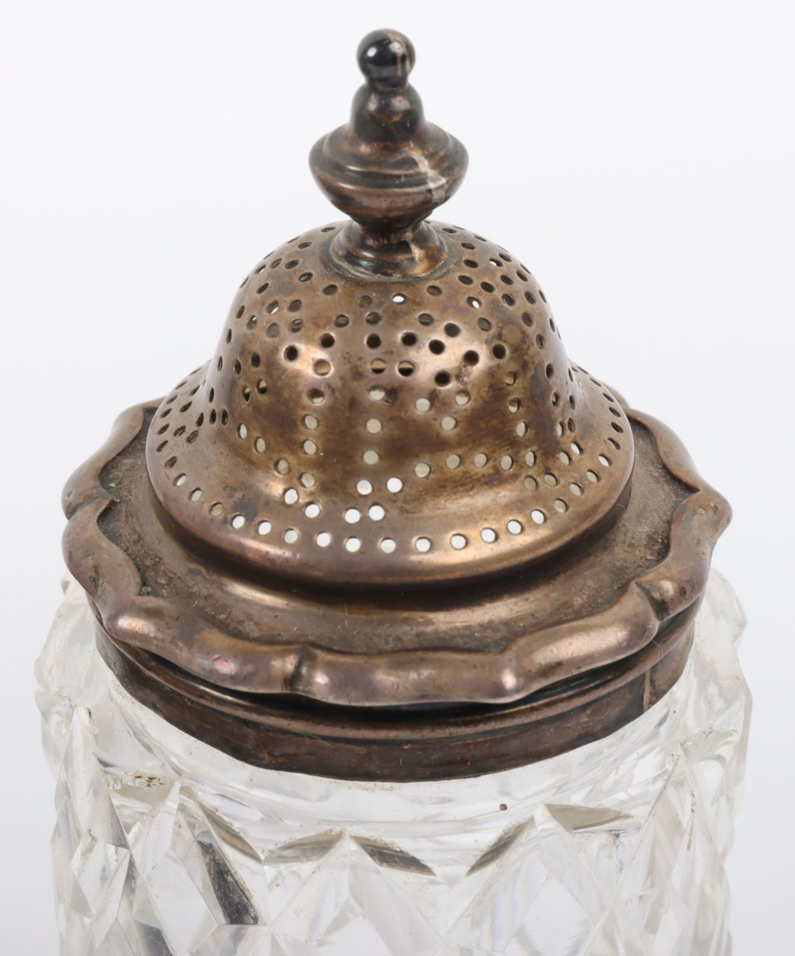 A Victorian silver and silver plated glass cruet set - Image 19 of 23