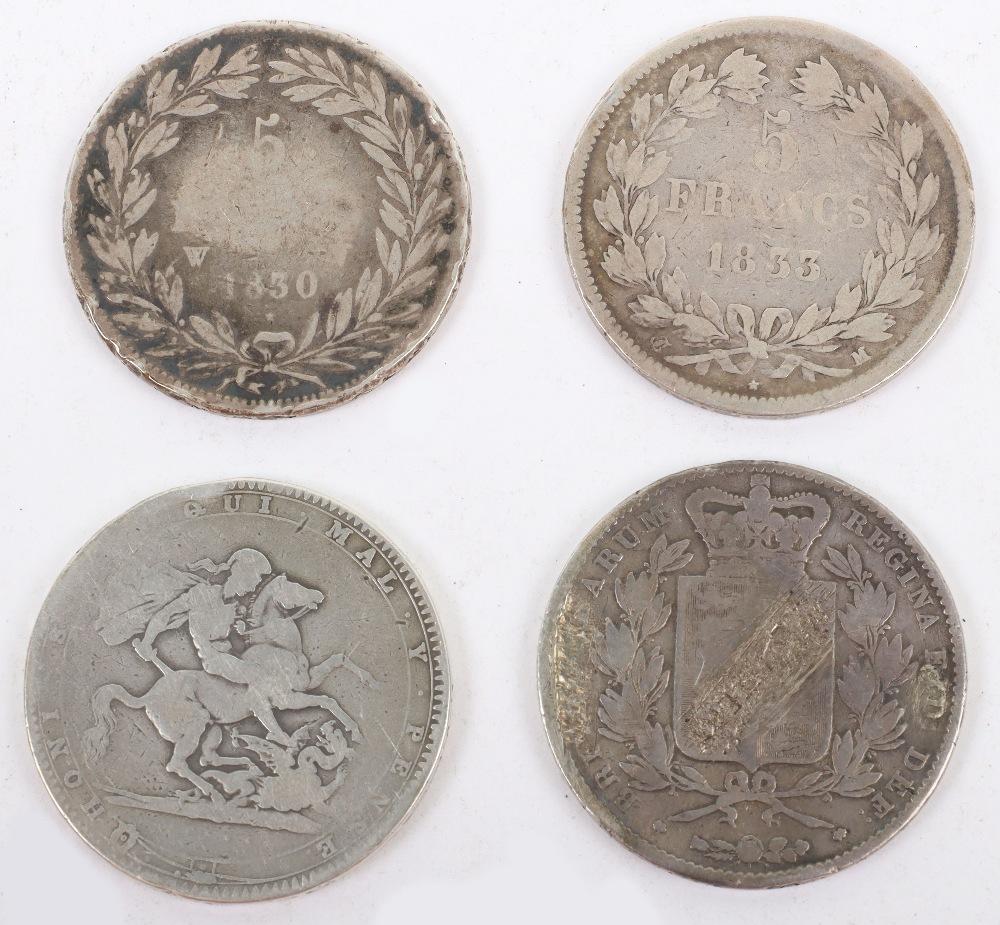 George III Crown 1820, Victoria Crown 1845
