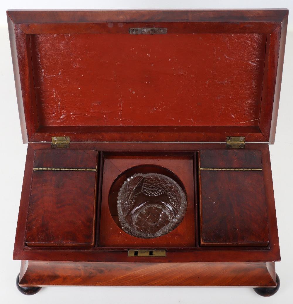 A 19th century mahogany casket tea caddy - Image 3 of 14