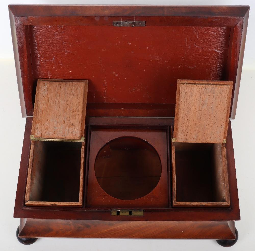 A 19th century mahogany casket tea caddy - Image 5 of 14