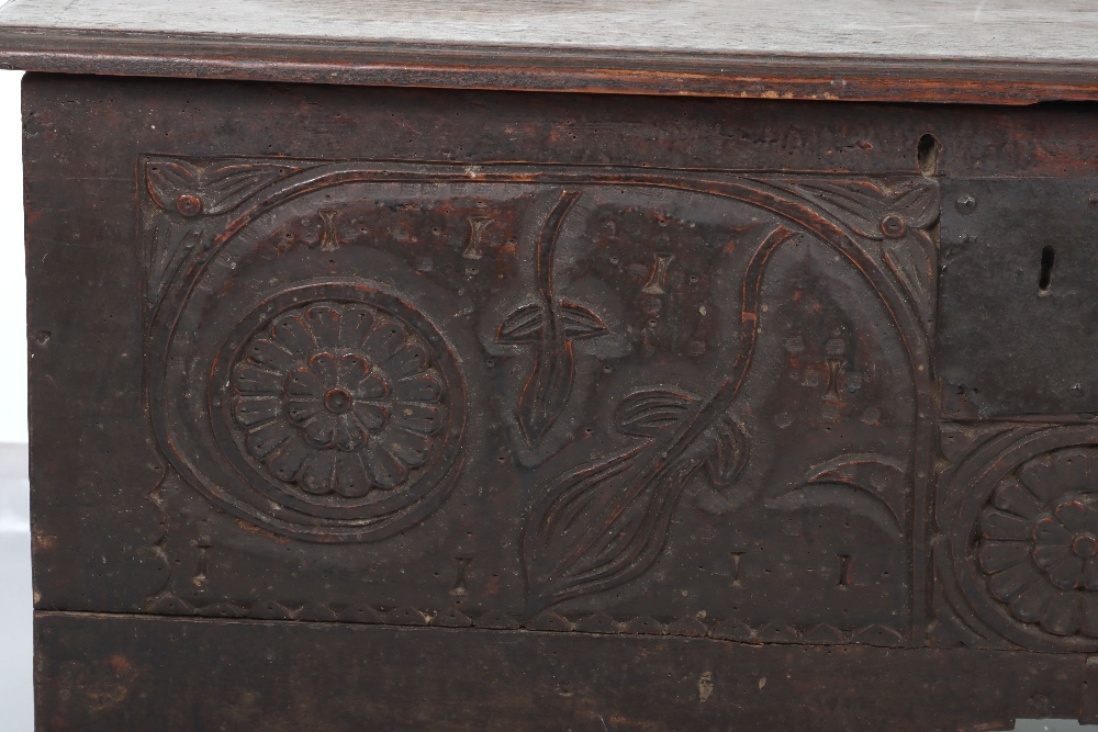 17th Century and later coffer - Image 2 of 6