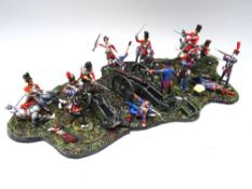 GNM Miniatures Waterloo: The Scots Greys and Gordons reach the Imperial Guard Artillery