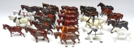Cart and Field Horses by makers other than Britains