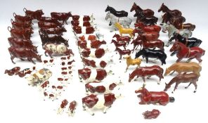 Brown and White Cattle, mostly Britains