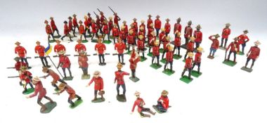 M J Mode and others Royal Canadian Mounted Police in stetsons, on foot