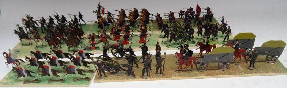 Flat figures, mostly Franco-Prusiian War