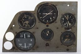 Aircraft Dash Panel with Instruments