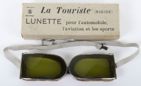 """Pair of French Made """"La Touriste"""" Lunette Automobile / Aviation Goggles"""