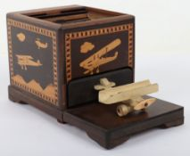 Great War Period Royal Air Force Parquetry Money / Jewellery Box