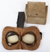 Fine Pair of Early Aviators Flying Goggles