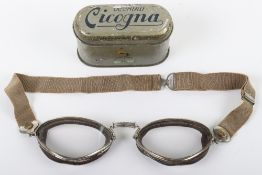 Pair of Italian Made Aviators Goggles in Lithographed Tin