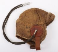 1918 Dated Royal Flying Corps / Royal Air Force Mk1 Leather Flying Helmet
