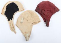 3x Cloth Flight Helmets