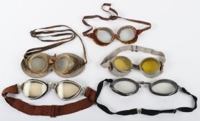 Pair of Vintage Aviators Flying Goggles by Bausch & Lomb