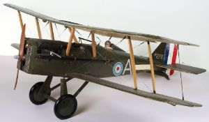 Impressive Working Model of a Royal Flying Corps SE5a Fighter Plane