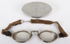 French Made 1930's Stadium Air Express Flying Goggles