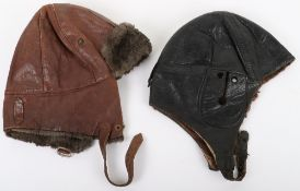 1930's Period British Leather Flight Helmet