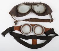 Pair of WW1 Period Royal Flying Corps Goggles