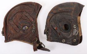 2x WW2 Royal Air Force C-Type Flying Helmets