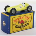 Boxed Matchbox Moko Lesney Regular Wheels 52a Maserati 4 CLT Racing Car