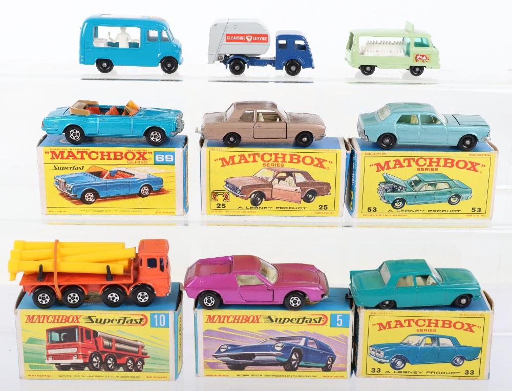 Nine Matchbox Lesney Models - Image 2 of 2