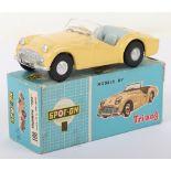 Tri-ang Spot On Model 108 Triumph TR3 pale yellow body
