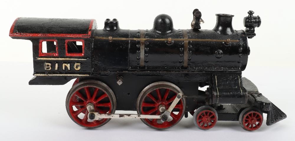 Bing gauge I cast iron 4-4-0 U.S outline clockwork locomotive, German circa 1910