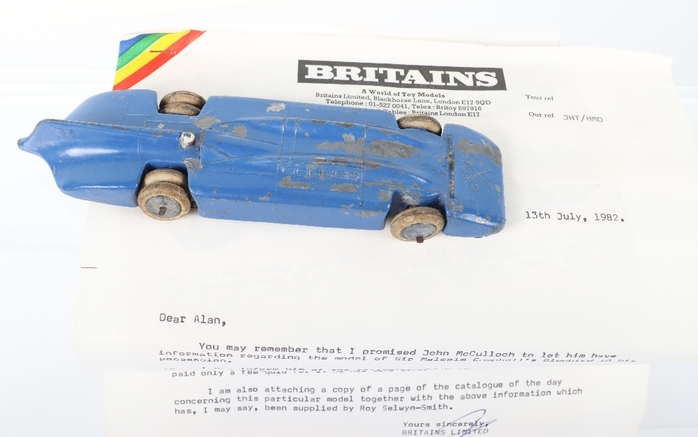 W Britains Pre War 1400 Sir Malcolm Campbells Blue Bird Land Speed Record Car - Image 2 of 4