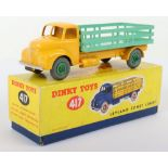 Dinky Toys 417 Leyland Comet Lorry, yellow cab/chassis, pale green stake back