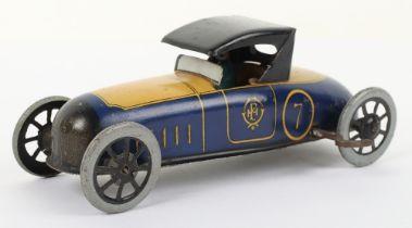 A scarce Paya tinplate clockwork two-seater sporting car, Spanish circa 1930