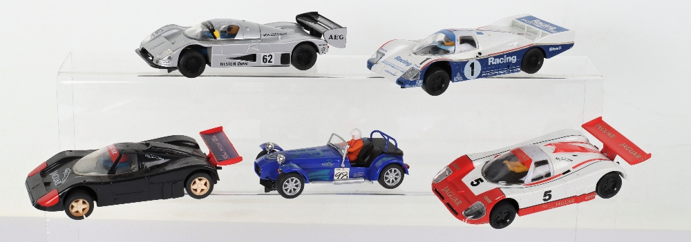 Five Unboxed Scalextric Slot Cars