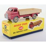Scarce Boxed Dinky Toys 408 Big Bedford Lorry, pink cab
