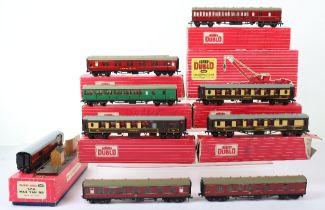 Eight Hornby Dublo 00 Gauge 2-Rail Boxed Super Detail Coaches
