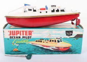 Sutcliffe 'Jupiter' Ocean Pilot Clockwork Tinplate Cruiser Boat