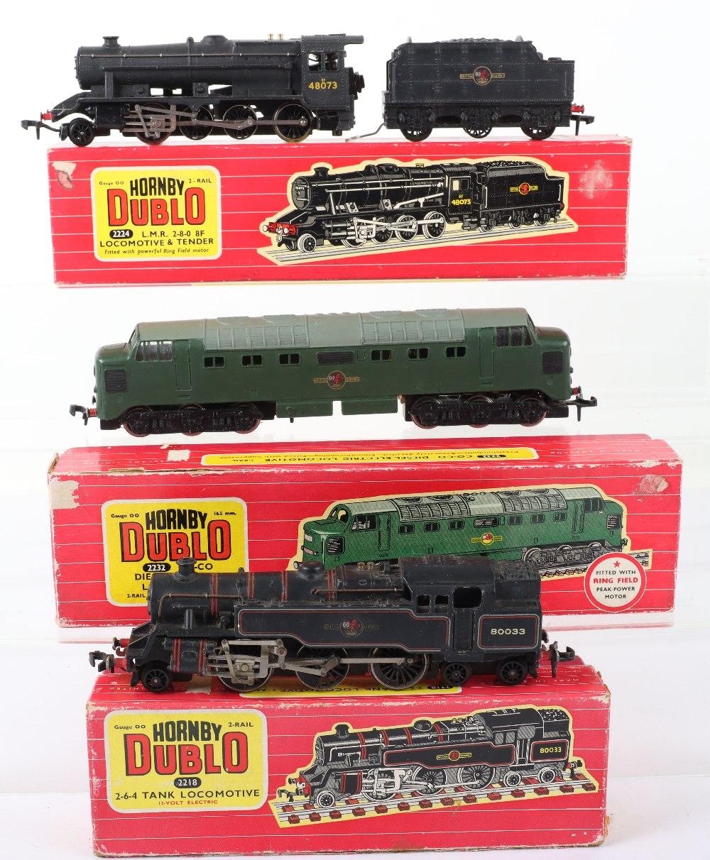 Three Boxed Hornby Dublo 00 Gauge 2-Rail Locomotives