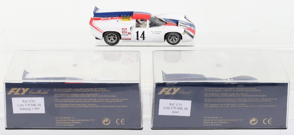 Two Boxed Fly Car Model Slot Cars Lola T70 - Image 2 of 2