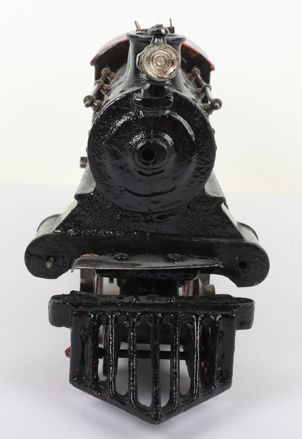 Bing gauge I cast iron 4-4-0 U.S outline clockwork locomotive, German circa 1910 - Image 4 of 5