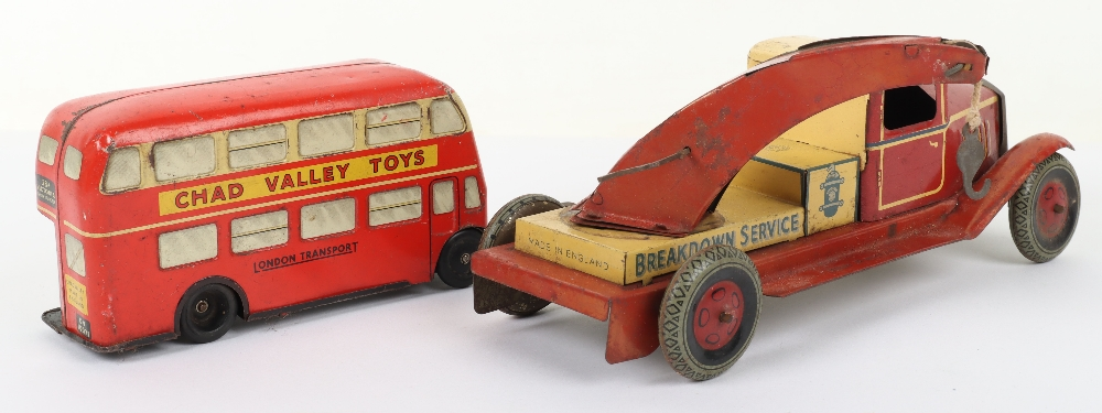 Chad Valley tinplate c/w London Transport Double Decker bus 38A - Image 2 of 3