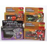 Four Hasbro Transformers G1 boxed action figures