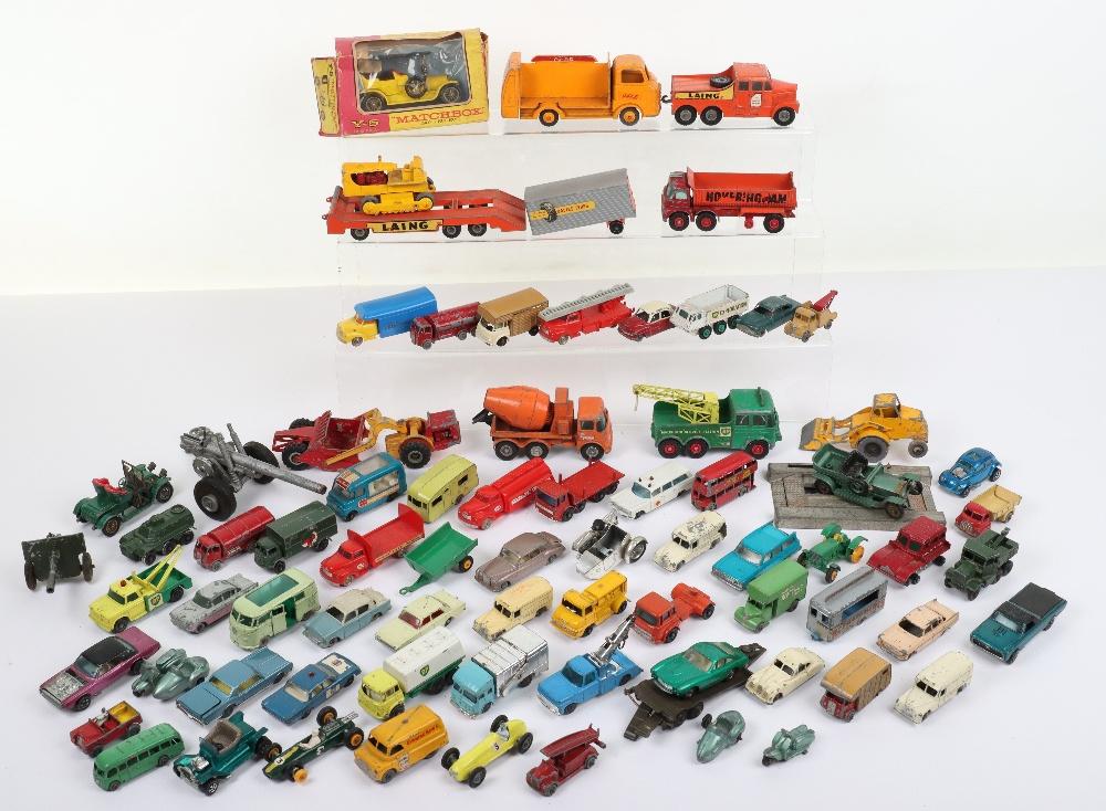 Large Quantity of Playworn Matchbox/Hotwheels mixed diecast toys,