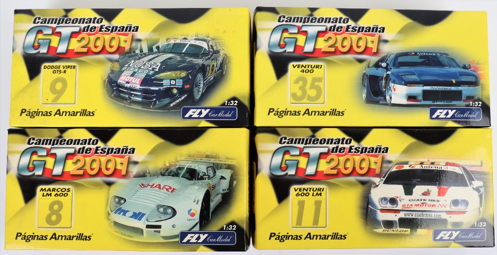 Four Boxed Fly Car Model Slot Cars,