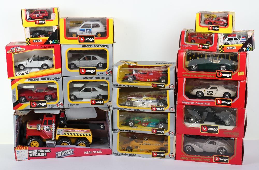 Quantity of Burago Die-cast boxed model cars