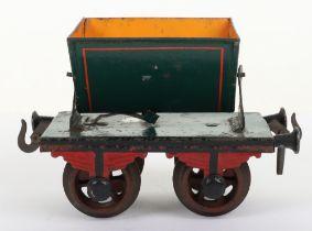 Rare Bing gauge I four-wheel Side-Tipping wagon, German circa 1904