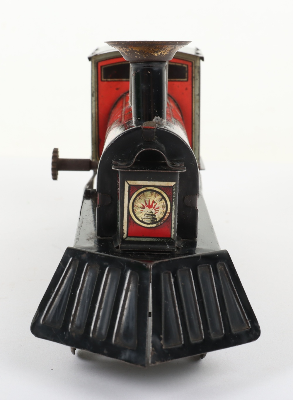 Hess 1023 tinplate friction driven U.S style floor train, German circa 1905 - Image 5 of 5