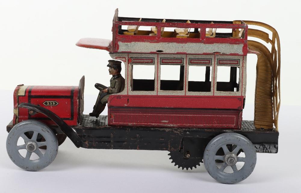 A Scarce Distler (German) Double Decker Tinplate Bus - Image 4 of 6