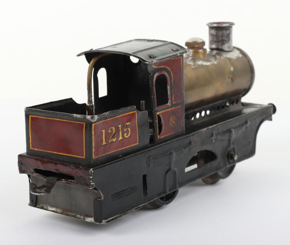 Bing 0 gauge 0-4-0 live steam tank locomotive 1215 - Image 4 of 5