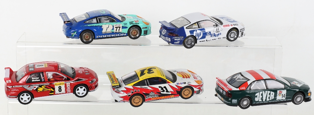 Five Unboxed Scalextric Hornby Slot Cars - Image 2 of 3
