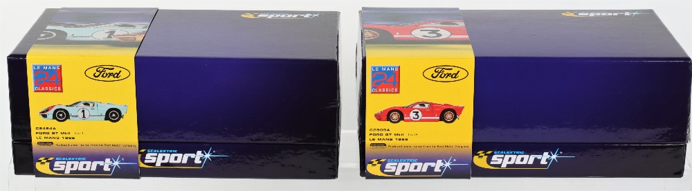 Two Boxed Scalextric Sport Limited Edition Slot Cars Ford GT MKII Le Mans