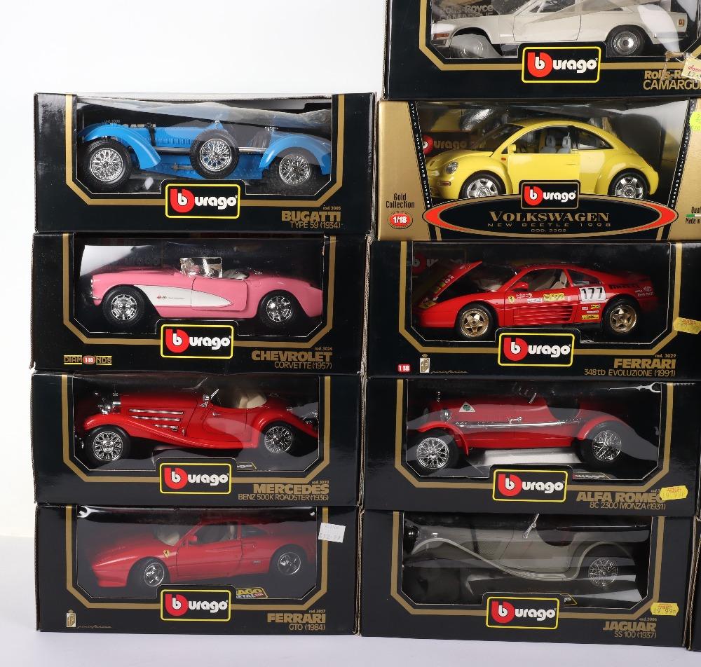 Thirteen Burago 1:18 Scale Die-cast Boxed model cars, - Image 2 of 5